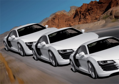 Which one is largest? - Illusion of 3 Audi's