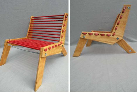 diy recycled rubber chair